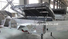 2014 NEW ARRIVAL! Hot-dip Galvanized Soft Floor Camper Trailer with Aluminum Tool Box