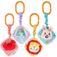 Hanging Cube Toy Newborn Gift Set Baby Rattle <strong>Animal</strong> Soft Stuffed Plush Toy