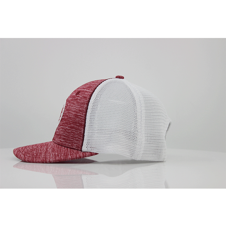 Wholesale Custom Snapback Flat Brim Mesh Blank 100% Cotton Snapback Embroidery Trucker Hats Cap