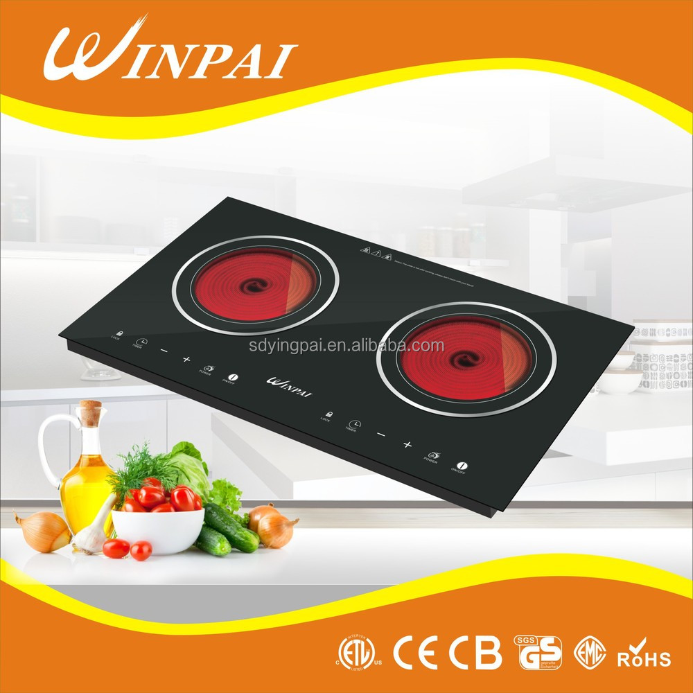 Double Stove Touch Screen Infrared Cooker