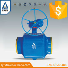 TKFM hot sale worm gear forged steel water waste treatment ball valve,what is a valve actuator