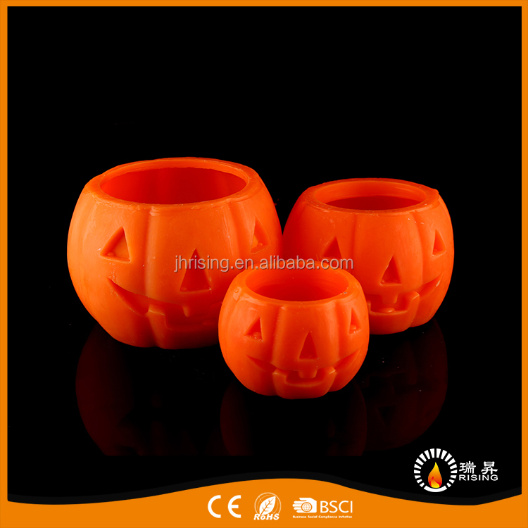 Craft Customized Decorative LED Candles Halloween Pumkin Shaped for Party/House/Table/Outdoor