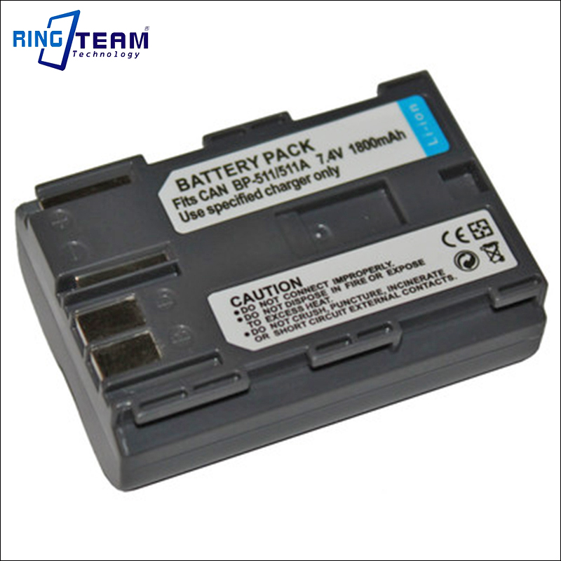 BP-511 BP-511A Battery Pack for Canon Digital Camera & Camcorder EOS 10D 1D 5D 20D 30D 40D 50D 300D DS6041 D30 D60 FV100