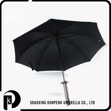 Grilled black matt frame solid color umbrella katana golf