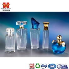 Luxury Packaging transparent white color empty cosmetic perfume fragrance glass bottle with mist sprayer apple