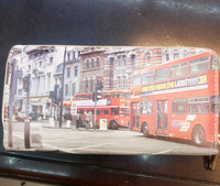 2014 Hot Sale Vintage London Bus Printed Stamp Zipper Wallet Purse Wholesale Price In Stock