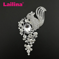 Zinc Alloy New Large Animal Squirrel Flower Rhinstone brooch pin Fashion Jewelry Brooch