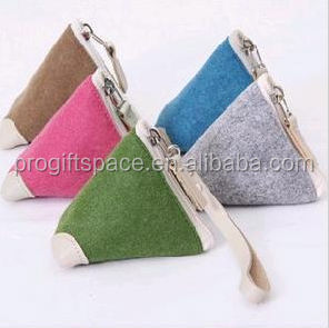 alibaba supplier 2016 hot sale high quality new products eco friendly handmade bag felt design your own wallet made in china