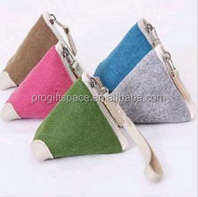 alibaba supplier 2017 hot sale high quality new products eco friendly handmade bag felt design your own wallet made in china