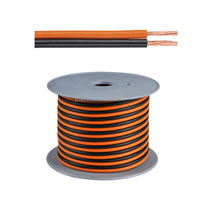 jld audio 16AWG speaker wire for car sound orange&black PVC jacket and CCA wire speaker cable