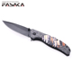 KPK7279 Amazon Best Sale OEM Private Design 3D Handle Folding Back Lock Tactical Stainless Steel Pocket Knife
