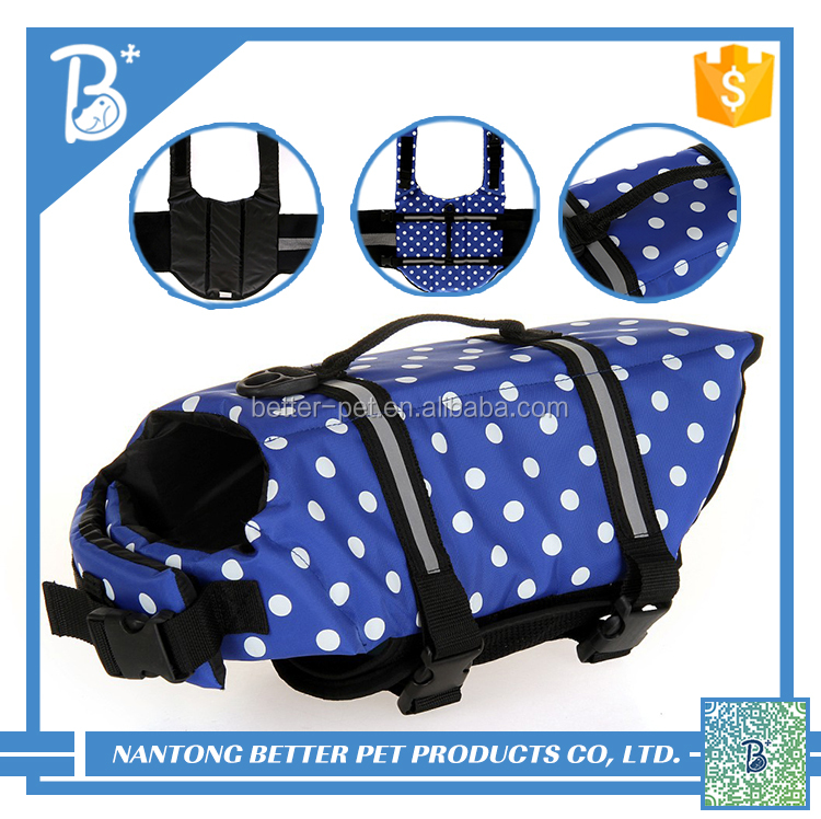 cool blue dog life jacket outdoor clothes for pet dog supplies