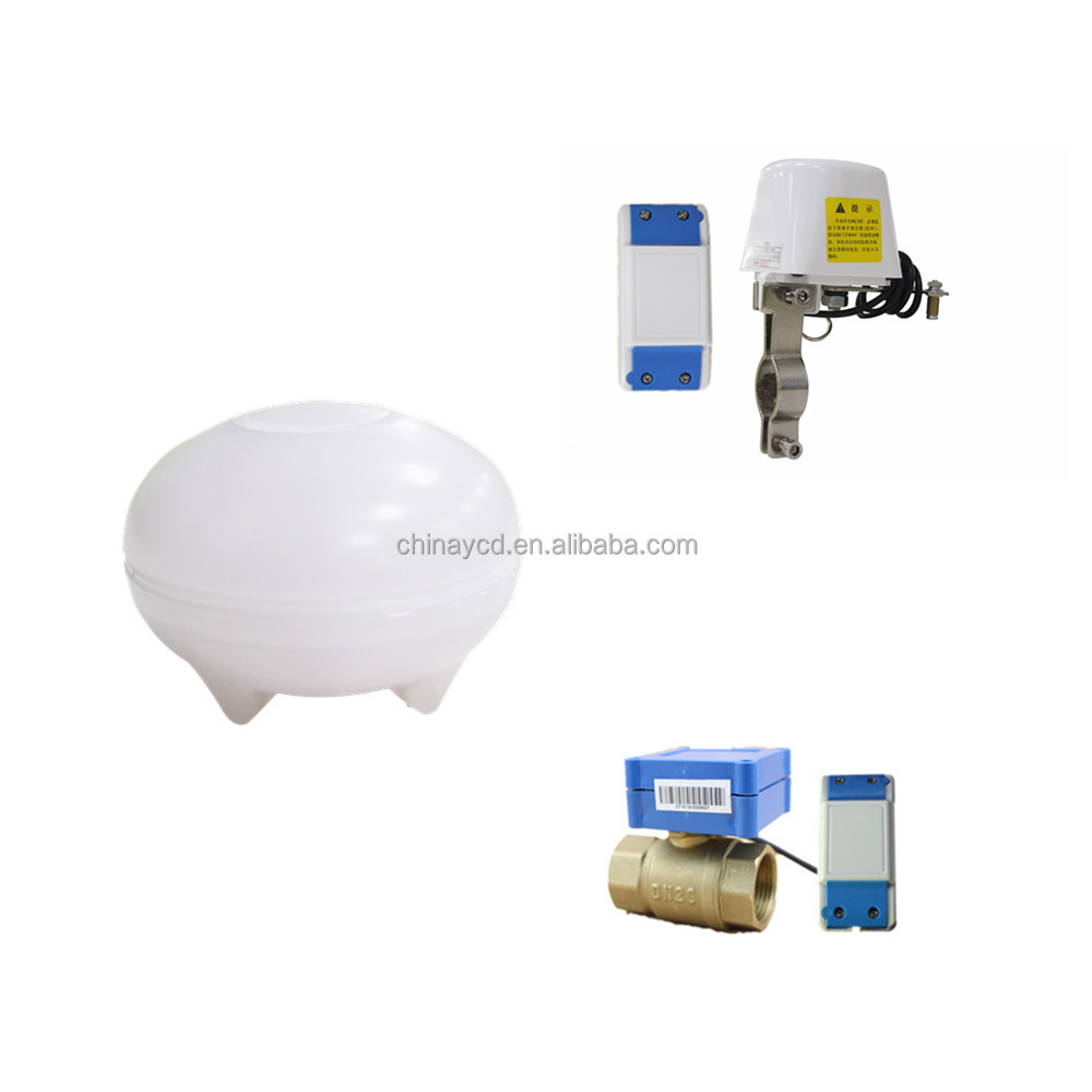 Zigbee SMS Water Leak Detector with Automatic Shutoff Valve, Open/Close the Valve from Smartphone