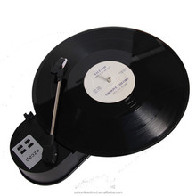 Portable Phonograph Mini USB Turntable Vinyl LP to MP3 USB Flash Drive Converter with TF Slot