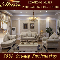 2015 Luxury French Baroque Living Room Sofa Set/European Antique Castle Style Exquisite Sofa S7005