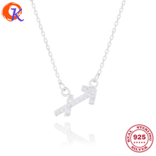High Quality 100% 925 Sterling CZ Sagittarius Zodiac Pendant Necklace For Women Chain Necklaces Jewelry CDSN-0052