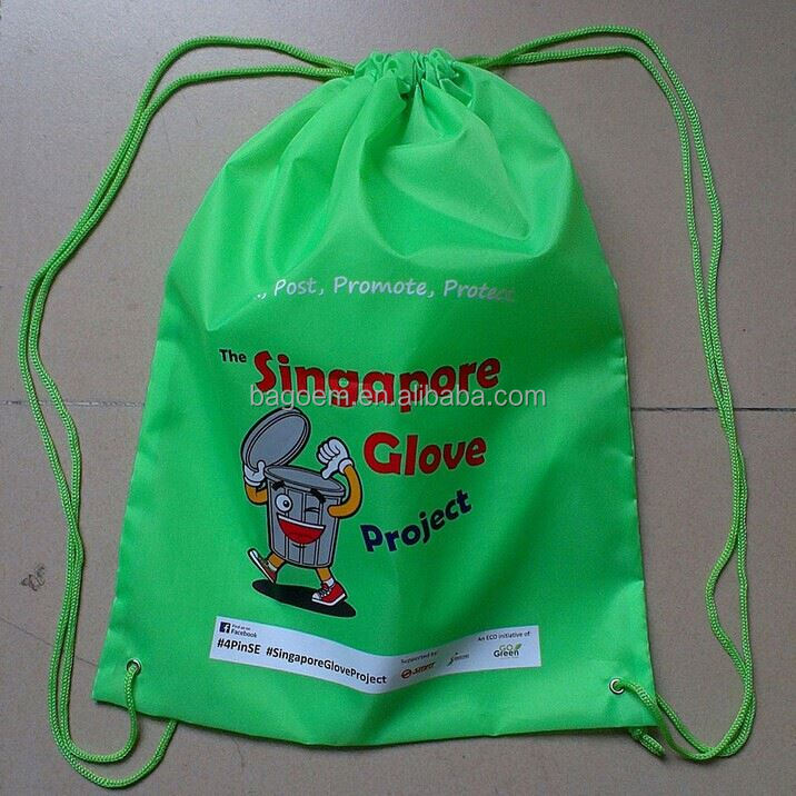 customized reusable colored drawstring trash garbage bag