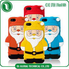 3D stereo 4 colors available santa claus phone case for Christmas festival for iphone 6 silicone cover