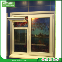 European style PVC frame windows cheap price UPVC casement windows for sale plastic window pane