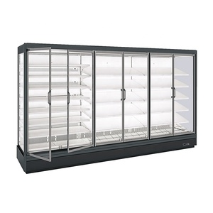 Multi-deck Commercial Refrigerator with Double Glazed Anti-fog Glass Door for Meat Display