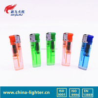 transparent wind prrof custom plastic gas lighter, lighter cigarette