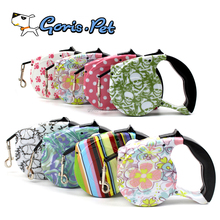 Factory Price Cheap Colorful Printing Retractable Dog Lead 5M