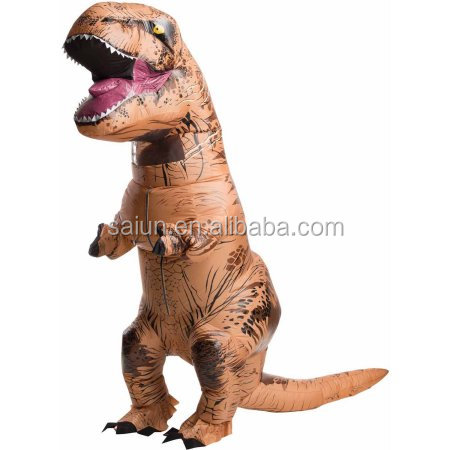 Jurassic World Park Blowup Dinosaur New Inflatable T Rex Costume for adult
