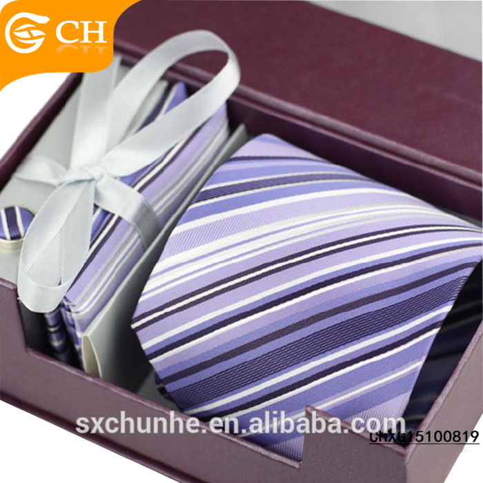 Polyester mens neck tie,Hand made tie gift box