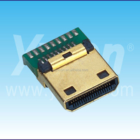 Dongguan Yxcon Mini HDMI 19M solder brass cover HDMI connector