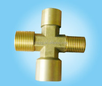 Stainless steel Four Way Tee Pipe Cross Joint Fitting