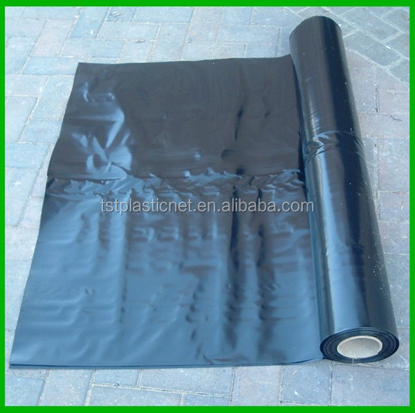 Black Polythene Mulch Mat Roll