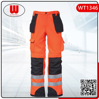 More pockets reflective men cargo trousers