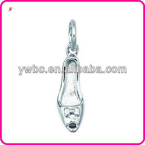 Beautiful High Heeled Open Toe Shoes Silver plating Jewelry charm