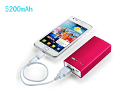 5200mah Micro USB Mobile Phone External Battery Portable Power Bank For Blackberry