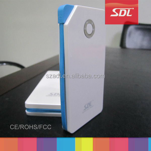 2014 private mould power bank, li polymer built-in micro cable mobile power