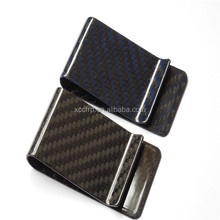 Men gender 100% genuine carbon fiber wallet/money clip/card holder