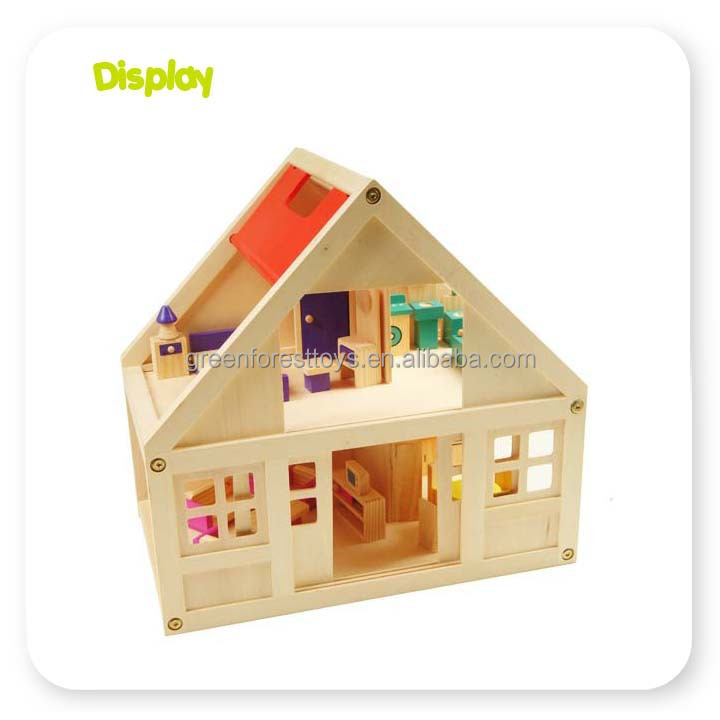 2-Storey Traditional Kids Wooden Doll House