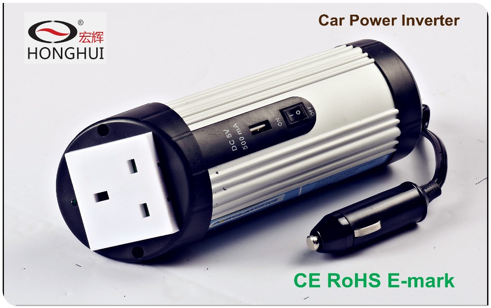 Car power inverter dc 12v/24v input to ac 110v/120/220/230/240v output/small inverter/CE RoHS E-mark