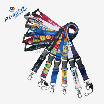 Custom No Minimum Order Printed Polyester Lanyard