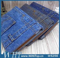 Jeans Pattern Leather Case for iPad 4 3 2 Wallet Case with Card Holders