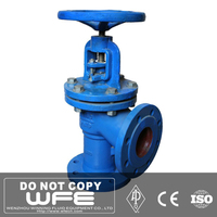 Cast Steel Flanged Bellows Sealed Angle Globe Valve