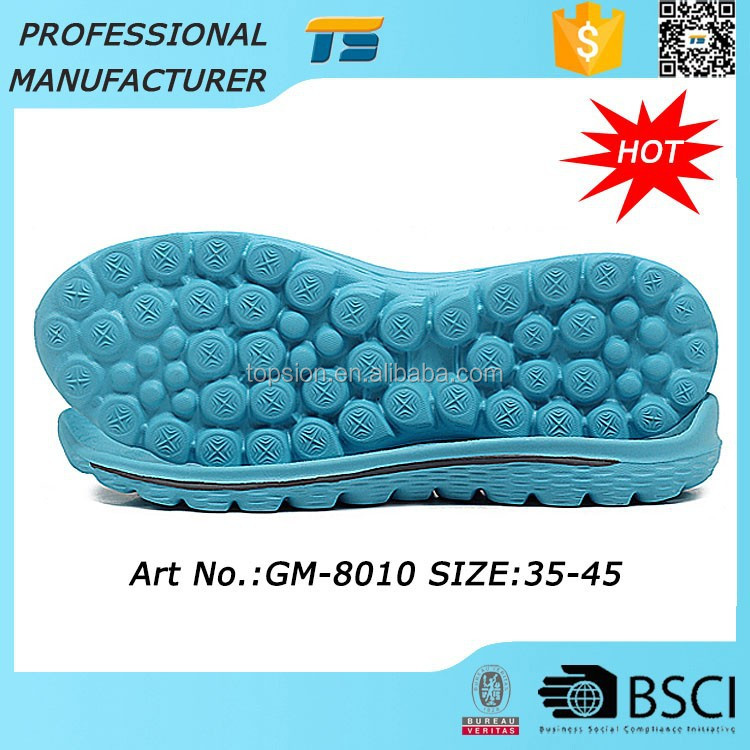 Hot Sale Soft Woman Outdoor China Eva Flat Shoe Making Supplies Soles Slip Resistant Soles Thick Sneaker Outsole