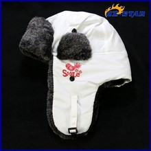 HZM-13973013 factory sale russia winter cap with ear muff polyester fashion hat