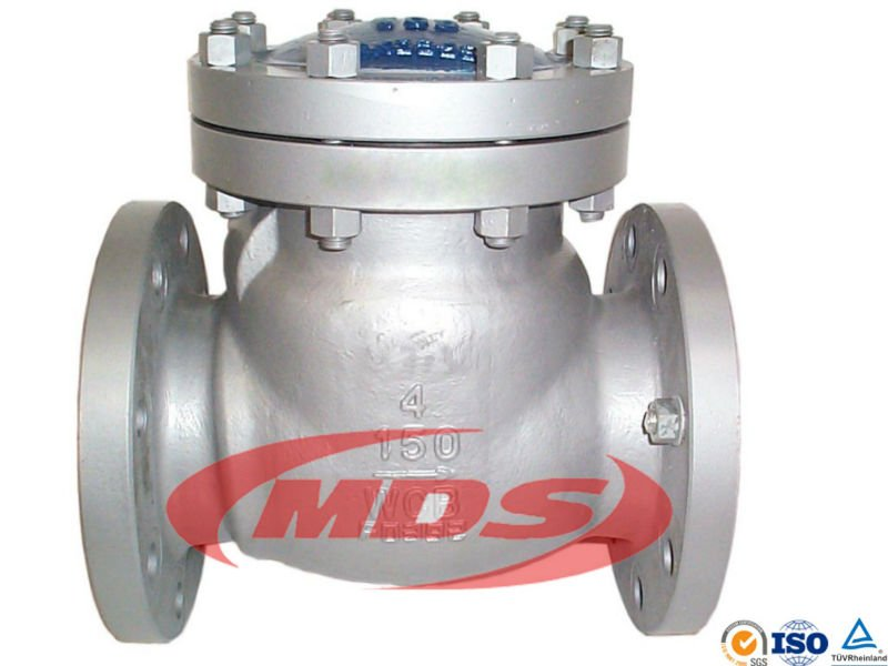 cast iron flanged end swing check valve