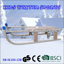 Kids Winter Sports Folding Wooden Sledge 110CM for Christmas Promotion(SB-Sled-12B)