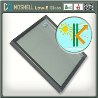 High quality multi-layer coating blocking UV laminated low-e glass