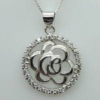 Hot sale teardrop shape silver 925 wholesale pendant bezel settings