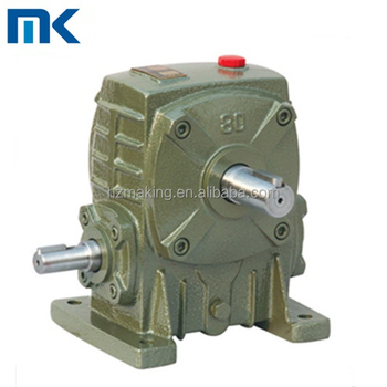 WPA series cast iron industrial use 1:50 ratio speed reducer gearbox