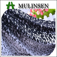 Mulinsen Textile Super Soft Touch Black And White Fashion Printed 4 Way Stretch Cheapest Undergarment Fabric