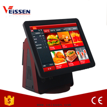 dual screen all in one point of sale pos cash register pos system